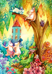 A Moominvalley Afternoon by TrollGirl