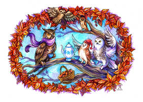 Owlmeet by TrollGirl