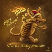 Holiday Armadillo by TrollGirl