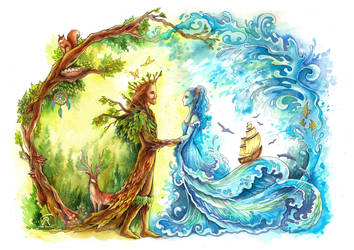 Forest King, Ocean Bride by TrollGirl