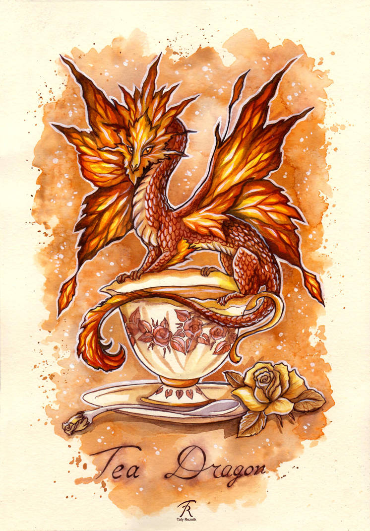 Tea Dragon by TrollGirl