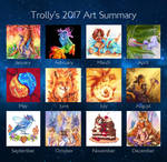 2017 Art Summary by TrollGirl