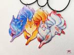 Kitsunes by TrollGirl