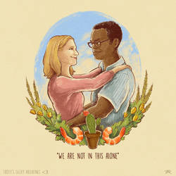 Geeky Valentine - Eleanor and Chidi by TrollGirl