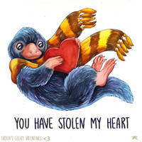 HP Valentine - Niffler by TrollGirl