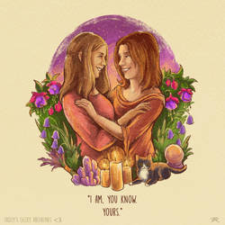 Geeky Valentine - Tara and Willow by TrollGirl