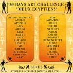30 Days Art Challenge Dieux Egyptiens by Clange-kaze