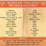 30 Days Art Challenge Mythes Legendes by Clange-kaze