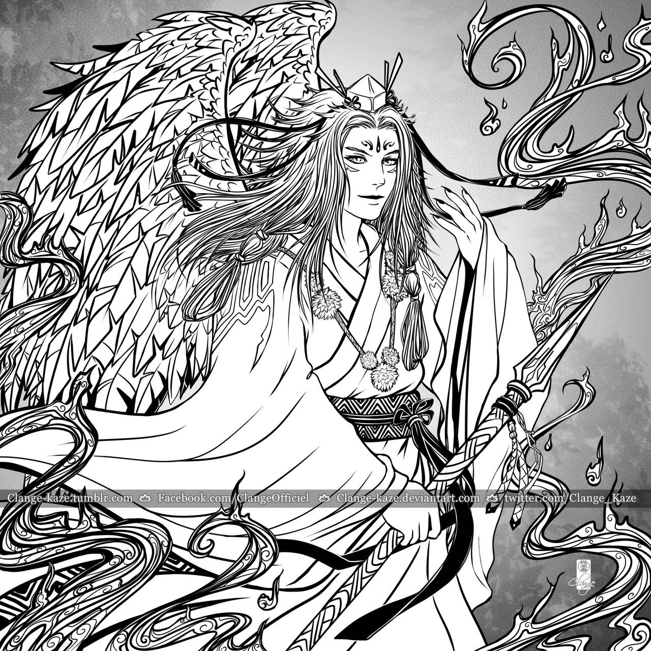 Yokai - Tengu by Clange-kaze