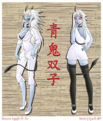 Blue Oni Twins by Azadeth
