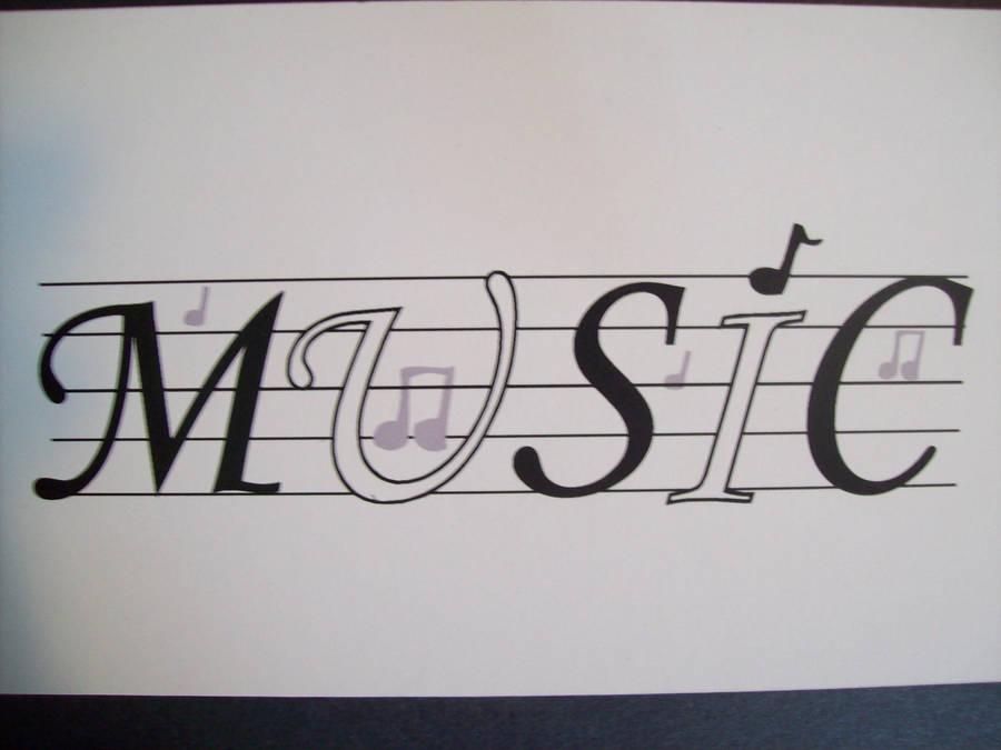 Musicword Art By Silentxwolf On Deviantart