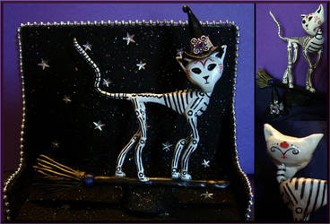 Halloween Bone Kitty by Nevar23