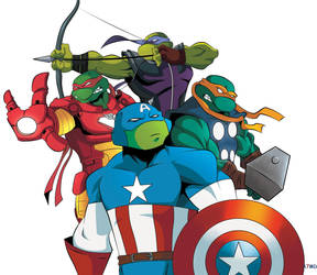 Turtles The Avengers by a7md93