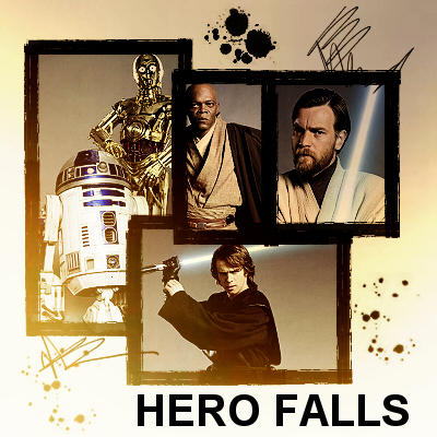 Anakin and Obi-Wan: Hero Falls by websparkle