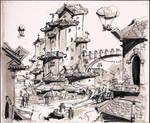 random fantasy town by RyanLovelock