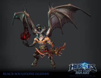 Black Soul Stone Illidan by VanLogan