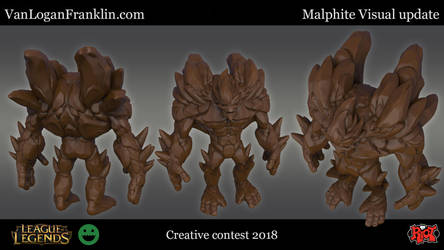Riot Creative contest, Malphite Visual update by VanLogan