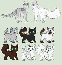 Stoneheart x Jayfeather kits [6/6 open] by Tal-the-cat