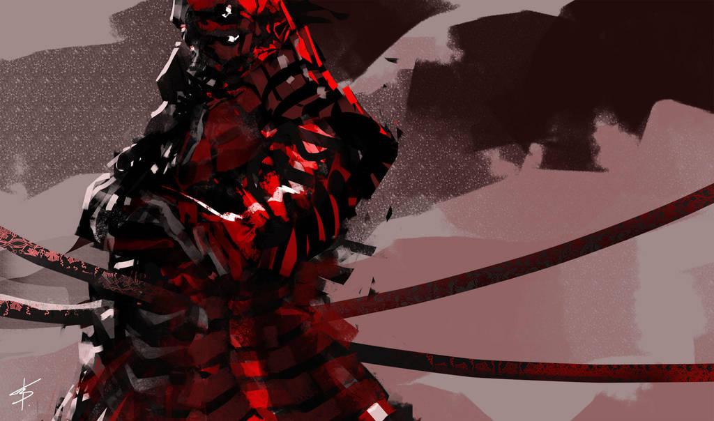 red samurai by VBagi
