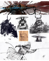 samurai sketches by VBagi