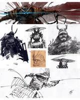samurai sketches by VBagi