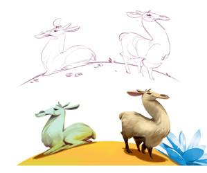 Llamas by VBagi