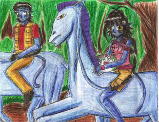 Norm, Sakura with horses by e31