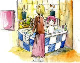Get out of the tub by VenusKaio