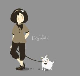 Dog Walk by VenusKaio