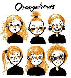 Orangeheads by VenusKaio