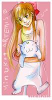 Minako and Artemis again by VenusKaio