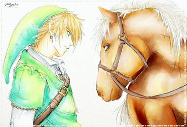 Link and Epona by Or003