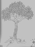 pointillistic tree by Tartango