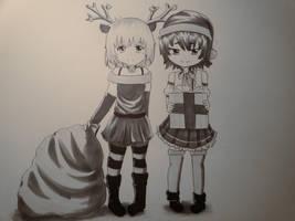Naomi and Yukari by Yukieru
