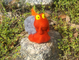 Magcargo Needle Felted Plush by TheHarley