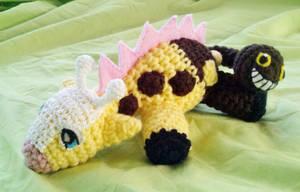 Girafarig Amigurumi Teenie Beanie by TheHarley