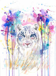 Untitled tiger painting by Blue-birch-insight