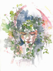 Behind a poplar by Blue-birch-insight