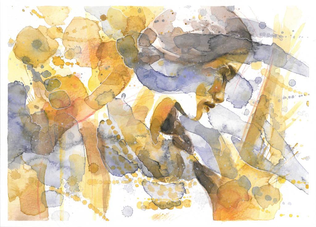 Walk Under the Golden Rain by Blue-birch-insight