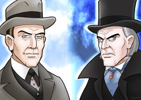 Holmes And Moriarty by curtsibling