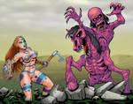 Saorise Meets The Nuckelavee  by curtsibling