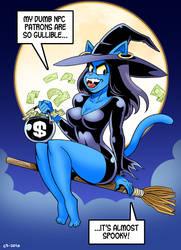 Anita's Halloween Heist by curtsibling