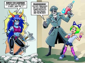 Trollslut Versus Shadman by curtsibling