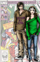 Rogue and Gambit by mariow08