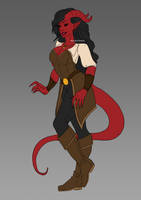 Tiefling Pirate WIP by speakforyourselves