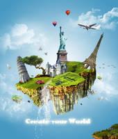 mundo flotante by Jimmasterpieces