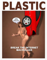 MacroLass #BreakTheInternet Kim K Parody Nude by MacroLass
