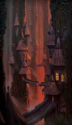 Treetop village by LiToKi