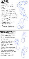 Breakdown of foot artists by Nyuomu