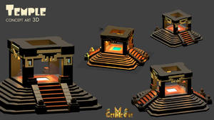 3D concept art - The temple by Maka by PhaethonGames